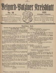 Belgard-Polziner Kreisblatt, 1922, Nr 58
