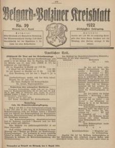 Belgard-Polziner Kreisblatt, 1922, Nr 59
