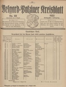 Belgard-Polziner Kreisblatt, 1922, Nr 60