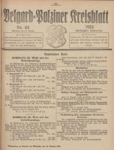 Belgard-Polziner Kreisblatt, 1922, Nr 63