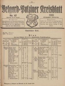 Belgard-Polziner Kreisblatt, 1922, Nr 67