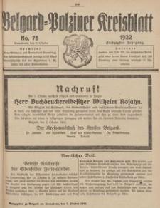 Belgard-Polziner Kreisblatt, 1922, Nr 78