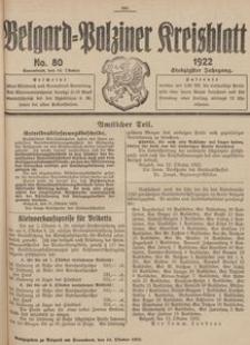 Belgard-Polziner Kreisblatt, 1922, Nr 80