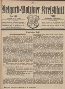 Belgard-Polziner Kreisblatt, 1922, Nr 81