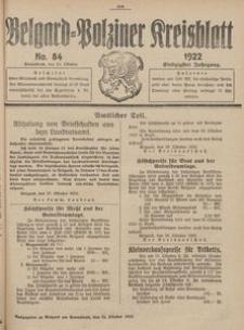 Belgard-Polziner Kreisblatt, 1922, Nr 84