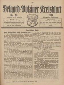 Belgard-Polziner Kreisblatt, 1922, Nr 90