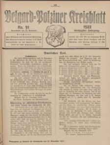 Belgard-Polziner Kreisblatt, 1922, Nr 91