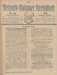 Belgard-Polziner Kreisblatt, 1922, Nr 92