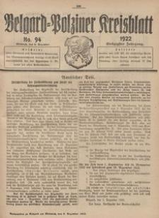 Belgard-Polziner Kreisblatt, 1922, Nr 94