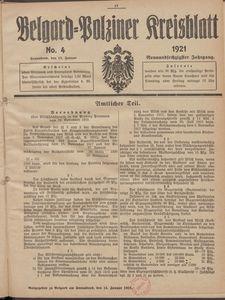 Belgard-Polziner Kreisblatt, 1921, Nr 4