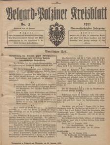 Belgard-Polziner Kreisblatt, 1921, Nr 5