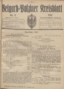 Belgard-Polziner Kreisblatt, 1921, Nr 9