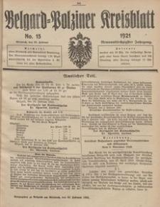 Belgard-Polziner Kreisblatt, 1921, Nr 15