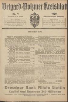 Belgard-Polziner Kreisblatt, 1920, Nr 9