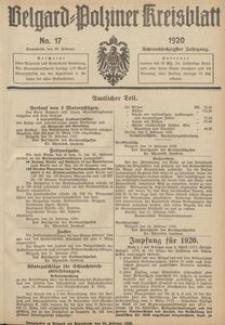 Belgard-Polziner Kreisblatt, 1920, Nr 17