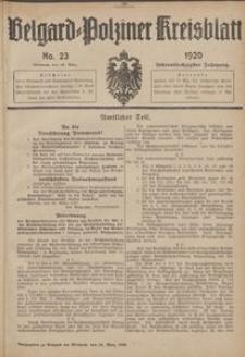 Belgard-Polziner Kreisblatt, 1920, Nr 23