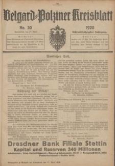 Belgard-Polziner Kreisblatt, 1920, Nr 30