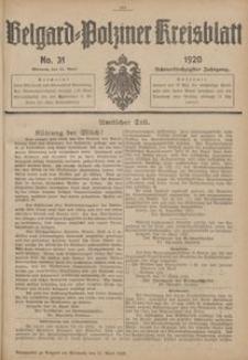 Belgard-Polziner Kreisblatt, 1920, Nr 31