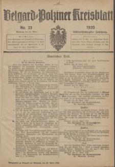 Belgard-Polziner Kreisblatt, 1920, Nr 33
