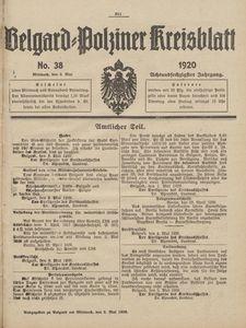 Belgard-Polziner Kreisblatt, 1920, Nr 38