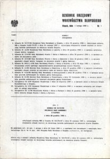 Dziennik Urzędowy Województwa Słupskiego. Nr 1/1989