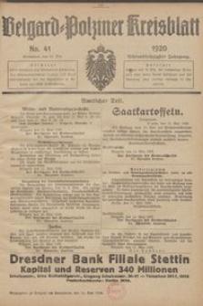 Belgard-Polziner Kreisblatt, 1920, Nr 41