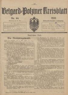 Belgard-Polziner Kreisblatt, 1920, Nr 44