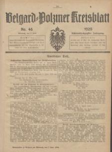 Belgard-Polziner Kreisblatt, 1920, Nr 46