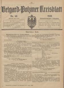 Belgard-Polziner Kreisblatt, 1920, Nr 48