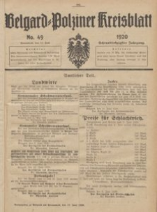 Belgard-Polziner Kreisblatt, 1920, Nr 49