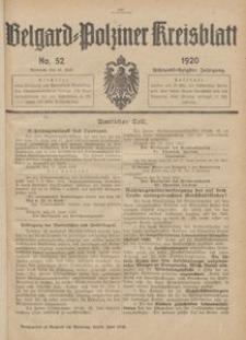 Belgard-Polziner Kreisblatt, 1920, Nr 52