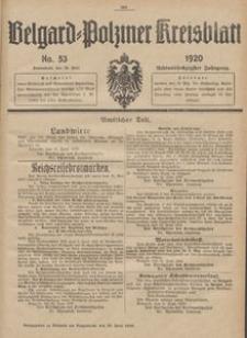 Belgard-Polziner Kreisblatt, 1920, Nr 53