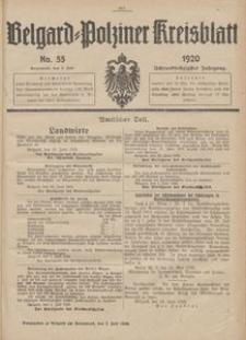 Belgard-Polziner Kreisblatt, 1920, Nr 55