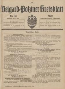 Belgard-Polziner Kreisblatt, 1920, Nr 61