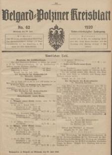 Belgard-Polziner Kreisblatt, 1920, Nr 62