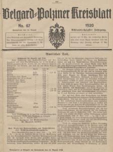 Belgard-Polziner Kreisblatt, 1920, Nr 67