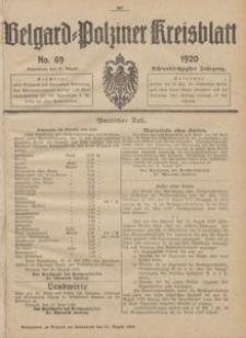 Belgard-Polziner Kreisblatt, 1920, Nr 69