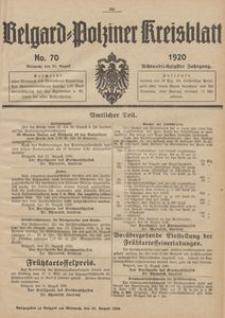 Belgard-Polziner Kreisblatt, 1920, Nr 70
