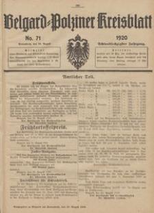 Belgard-Polziner Kreisblatt, 1920, Nr 71