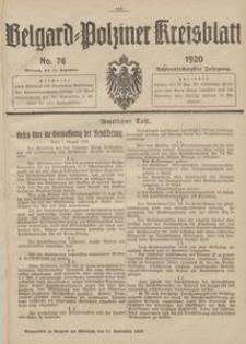 Belgard-Polziner Kreisblatt, 1920, Nr 76