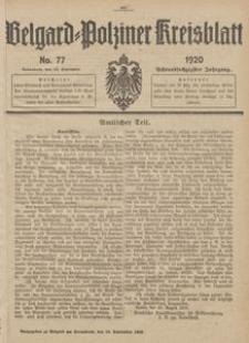 Belgard-Polziner Kreisblatt, 1920, Nr 77