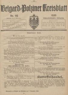 Belgard-Polziner Kreisblatt, 1920, Nr 90