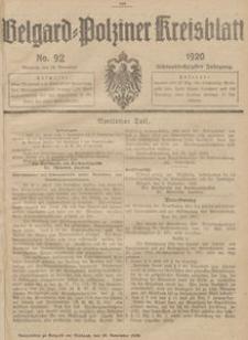 Belgard-Polziner Kreisblatt, 1920, Nr 92