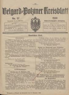 Belgard-Polziner Kreisblatt, 1920, Nr 97