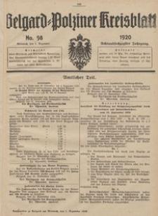 Belgard-Polziner Kreisblatt, 1920, Nr 98