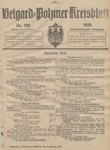 Belgard-Polziner Kreisblatt, 1920, Nr 100