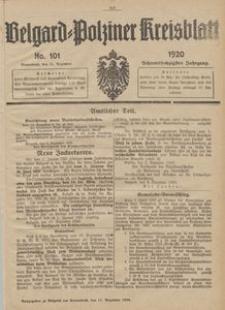 Belgard-Polziner Kreisblatt, 1920, Nr 101
