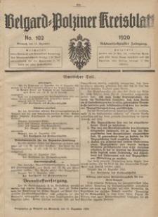 Belgard-Polziner Kreisblatt, 1920, Nr 102