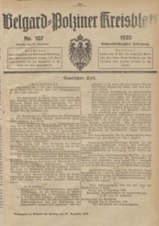 Belgard-Polziner Kreisblatt, 1920, Nr 107
