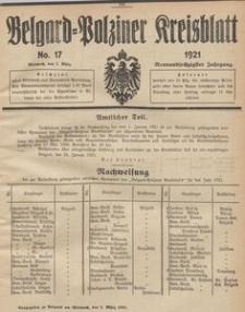 Belgard-Polziner Kreisblatt, 1921, Nr 17